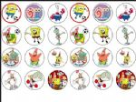 24 x Spongebob  Edible Rice Wafer Paper Cup Cake Bun Toppers